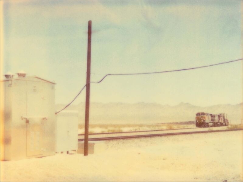 Stefanie Schneider, 'Approaching Train (Wastelands)', 2003, Photography, Analog C-Print based on a Polaroid, hand-printed and enlarged by the artist on Fuji Crystal Archive Paper. Mounted on Aluminum with matte UV-Protection., Instantdreams