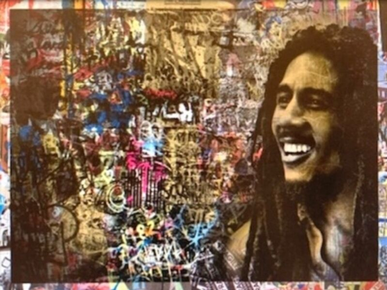 Mr. Brainwash, 'One Love', 2019, Drawing, Collage or other Work on Paper, Mixed Media on Paper, with silkscreen, Intrinsic Values