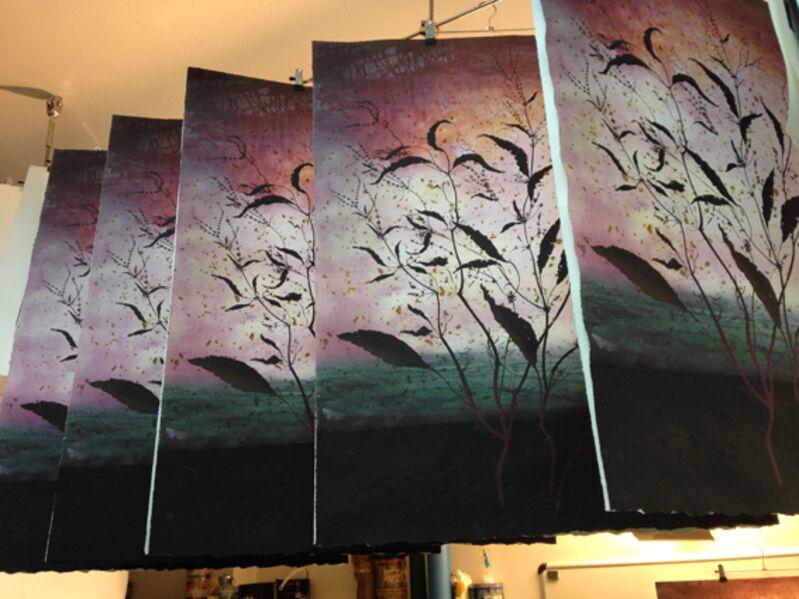 Michael Canning, 'Red Music', 2014, Print, Intaglio, carborundum & pigment print, Stoney Road Press