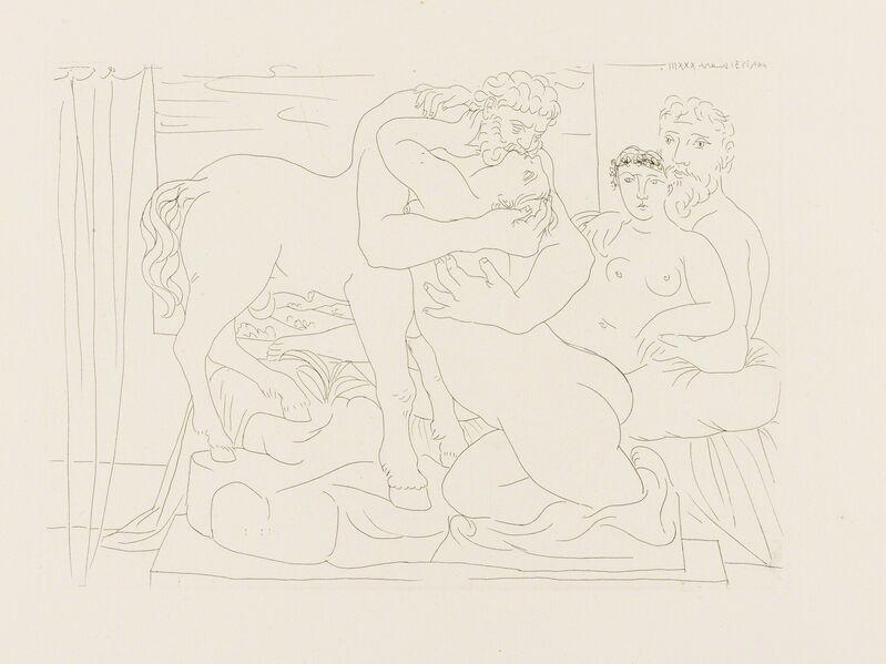 Pablo Picasso, 'Le Repos du Sculpteur devant un Sculpteur et une Femme (Bloch 167)', 1933, Print, Etching, Forum Auctions