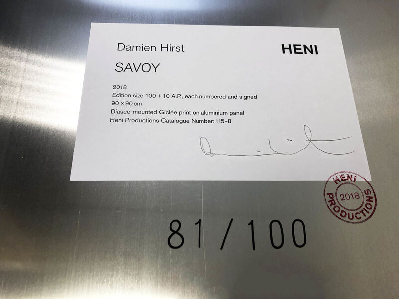 Damien Hirst, 'H5-8: Savoy', 2018, Print, Diasec-mounted Giclee print on aluminium panel, Lougher Contemporary Gallery Auction