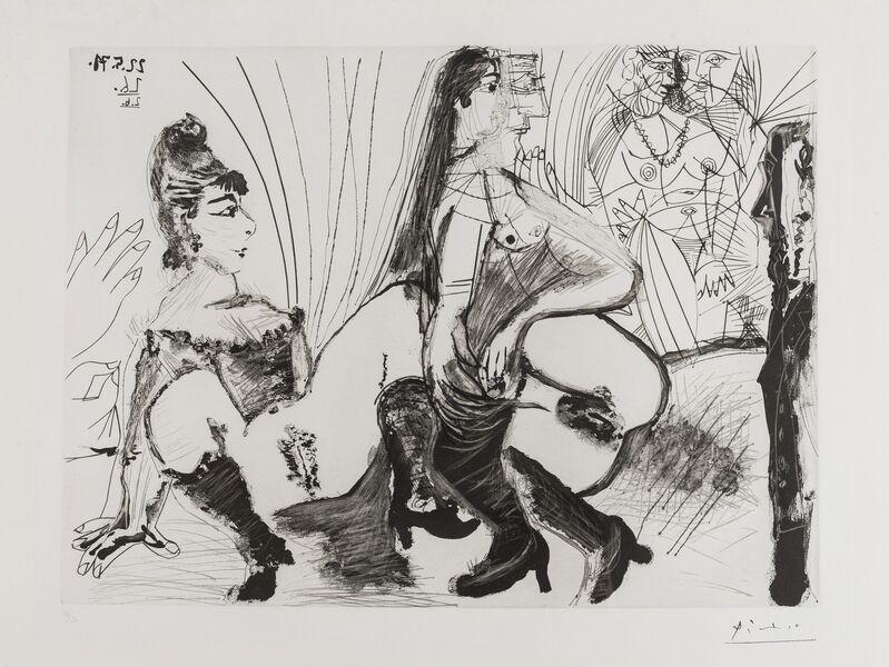 Pablo Picasso, 'Degas paie et s,en va filles ne sont pas tendre (Bloch 1988)', 1971-1978, Print, Aquatint, scraper and drypoint, Forum Auctions