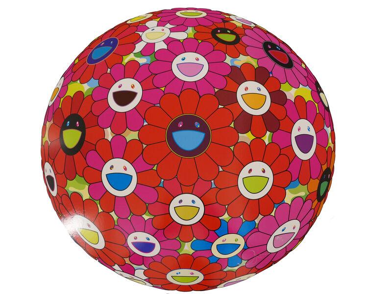 Takashi Murakami, 'Flowerball (3D) - Red, Pink, Blue', 2013, Print, Lithograph, @Whatever Artspace