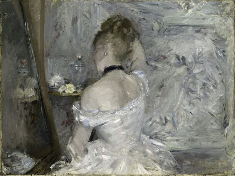 Berthe Morisot, 'Woman at her Toilette', 1875 -1880, Painting, Oil on canvas, Art Institute of Chicago