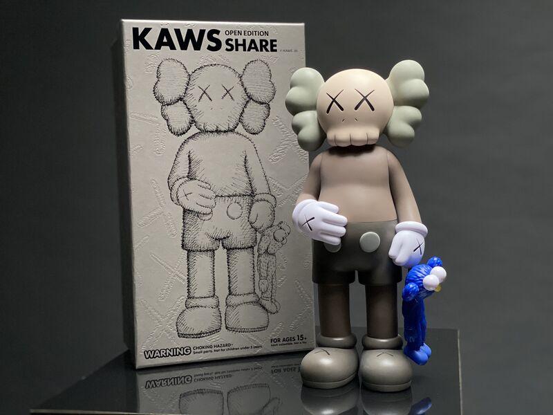KAWS, ''SHARE, 20' Open Edition, Vinyl Art Toy, Brown/Blue ', 2020, Sculpture, Vinyl, Plastic, Arton Contemporary