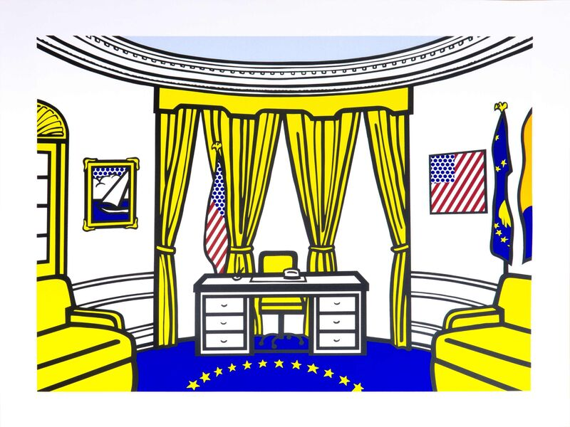 Roy Lichtenstein, 'The Oval Office', 1992, Print, Screenprint in colours, Galerie Thomas