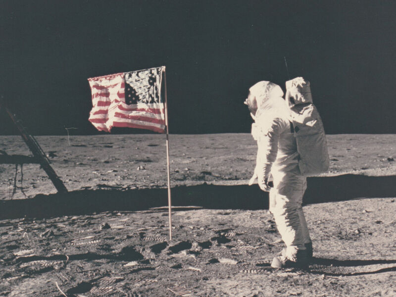 Neil Armstrong, 'Aldrin standing next to the flag', 1969, Photography, Original chromogenic print on Kodak paper, Patrick Parrish Gallery
