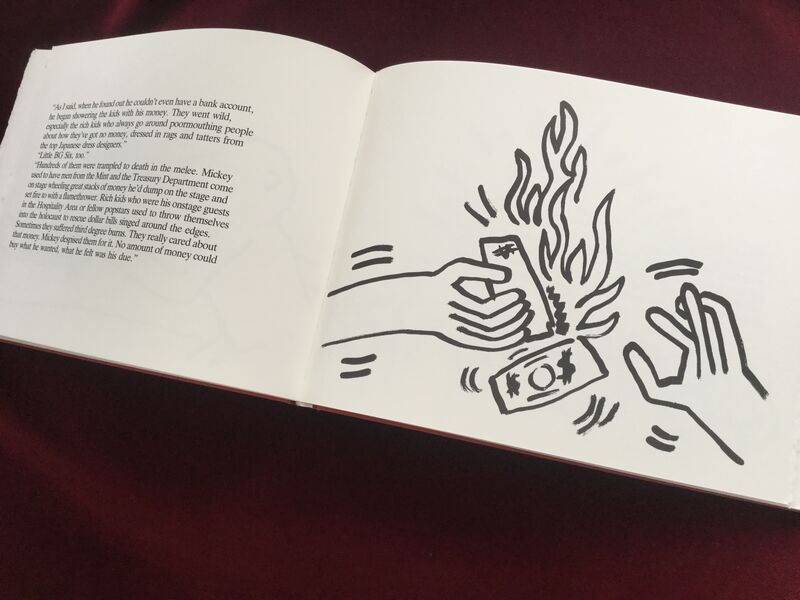 Keith Haring, 'Fault Lines (hand signed and numbered hardcover book with 52 pages of illustrations by Keith Haring, accompanying poems by Brion Gysin)', 1986, Books and Portfolios, Hardcover book bound in cloth with slipcase, printed on Rives Rag paper, Joseph Fine Art LONDON