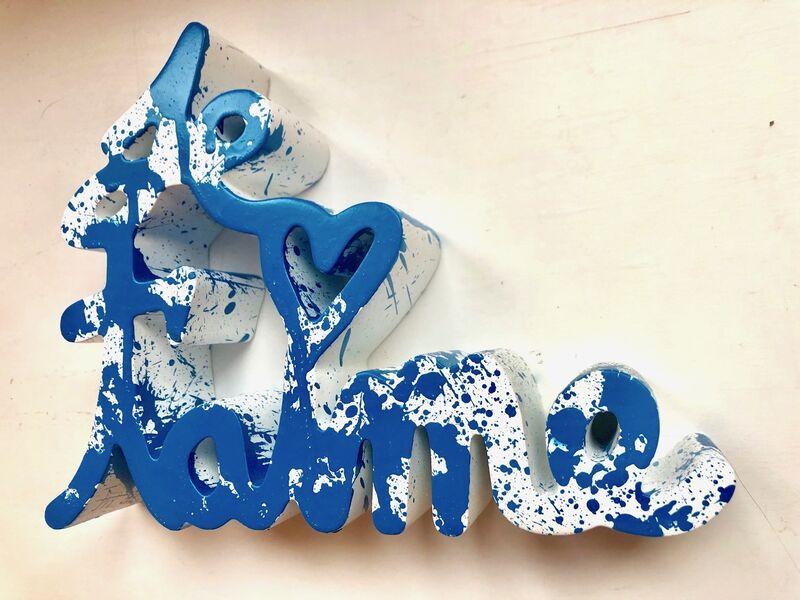 Mr. Brainwash, 'Je t`aime Splash blue', 2018, Sculpture, Resin, Frank Fluegel Gallery