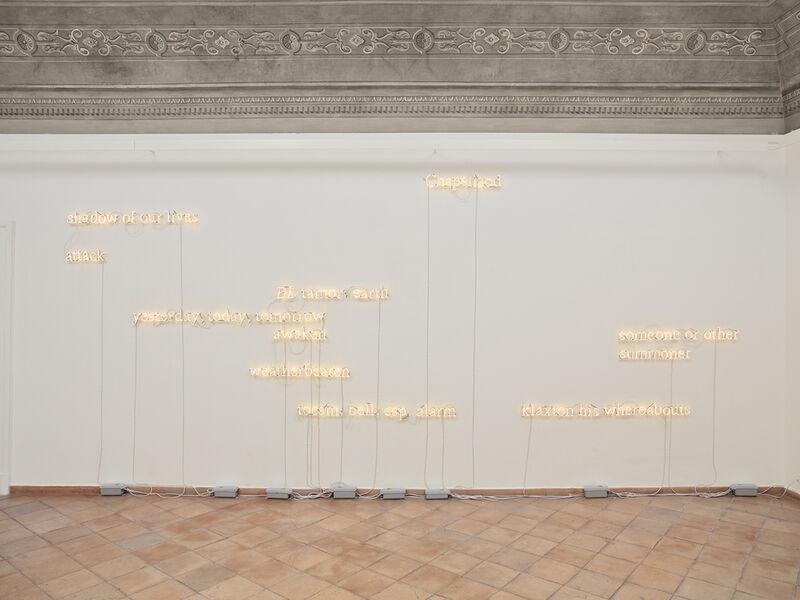Joseph Kosuth, 'A/C (J.J:F.W.) #10, [warm white]', 2009, Sculpture, Neon mounted directly on the wall, Vistamare/Vistamarestudio
