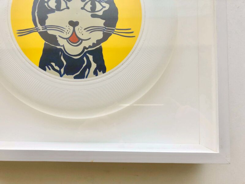 """Roy Lichtenstein, '""""Laughing"""" Cat frisbee', 1962/2013, Design/Decorative Art, White 'Ultimate Disc', 175 grams. Manufactured by Playhard Inc., Boulder, CO. Made in USA., Gallery 52"""