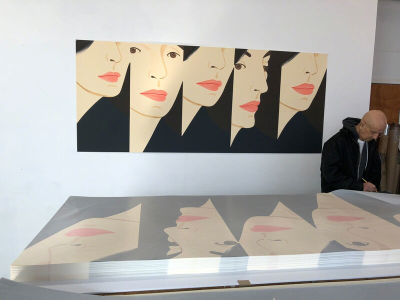 Alex Katz, 'Vivien X 5', 2018, Print, Silkcreen in 20 colors, Adamar Fine Arts