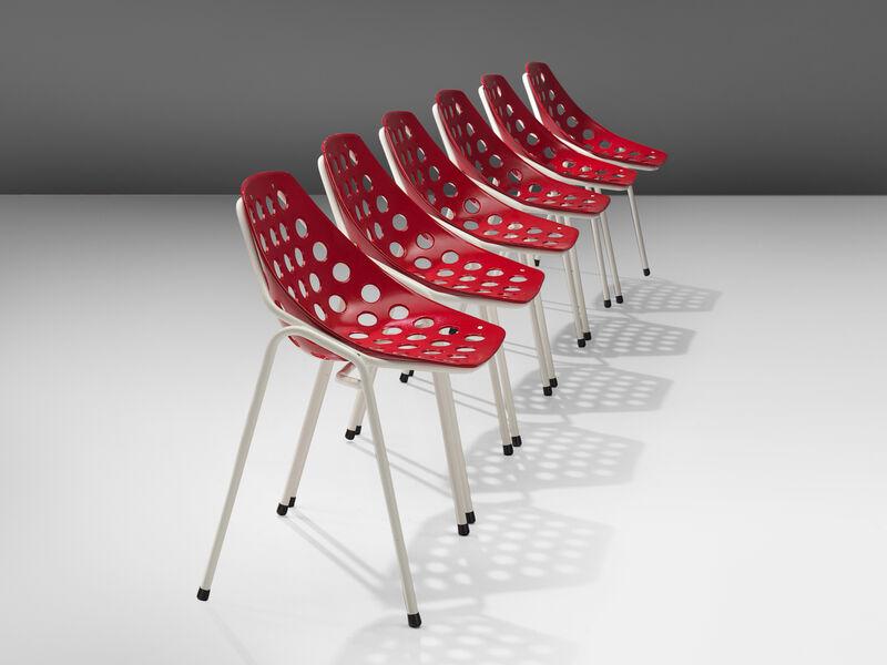Pierre Guariche, 'Coquillage Chairs', 1960s, Design/Decorative Art, Lacquered metal, propylene, MORENTZ