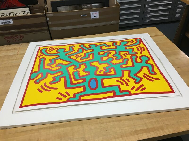 Keith Haring, 'Plate II, from Growing Suite', 1988, Print, Screenprint in colors on wove paper, Fine Art Mia