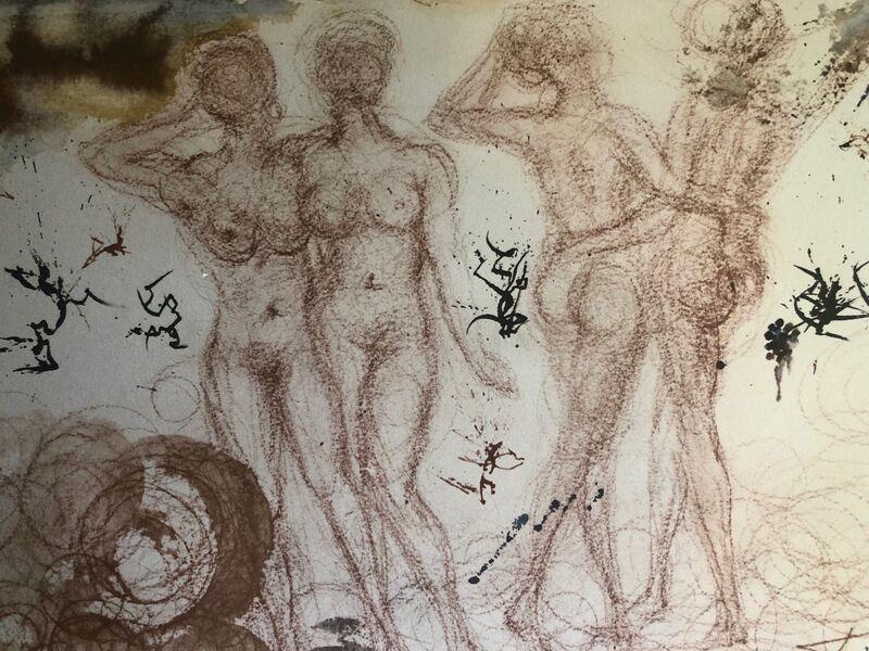 Salvador Dalí, 'The Foolish And The Wise Maidens, 'Stultae E Prudentes Filiae', Biblia Sacra', 1967, Print, Original Lithograph, Inviere Gallery