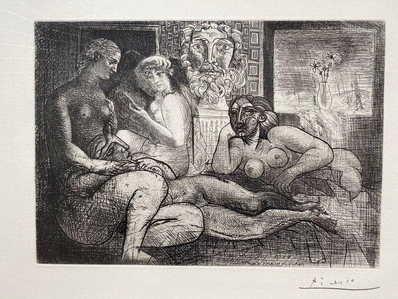 Pablo Picasso, 'Quatre Femmes Nues et Tete Sculptee', 1934, Print, Etching, Sigrid Freundorfer Fine Art