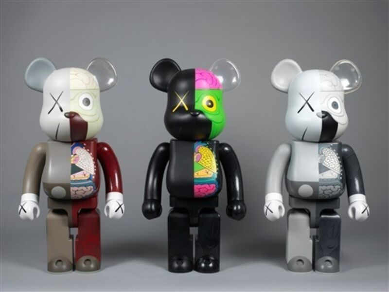 KAWS, 'KAWS Bearbrick Dissected 400% (Set of 3)', 2010, Sculpture, Vinyl Figurine, Curator Style