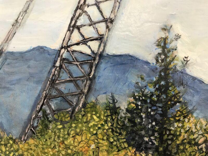 Marjorie Scholl, 'East End Metal', 2015, Painting, Acrylic on canvas, McVarish Gallery