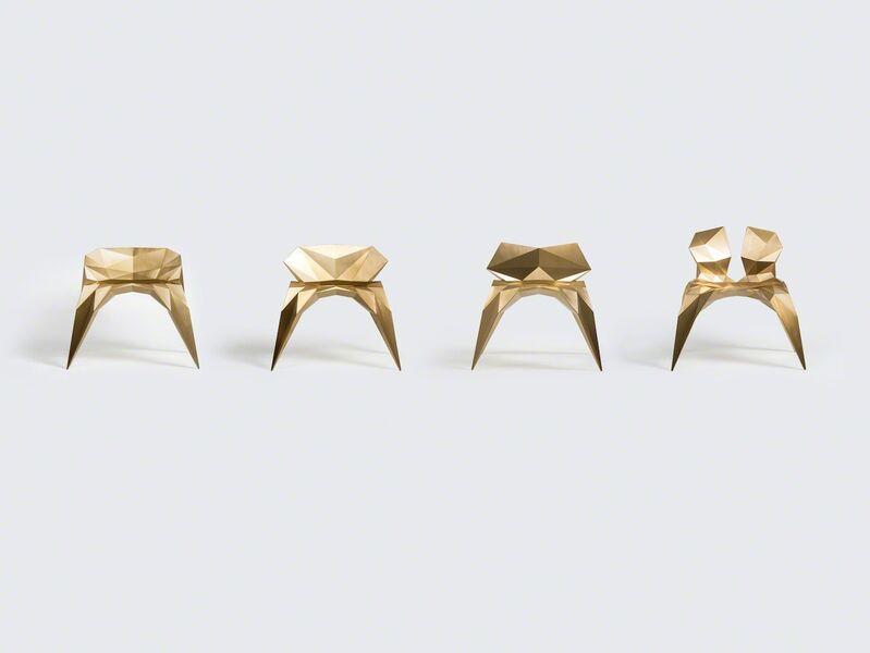 Zhoujie Zhang, 'Heart Chair (SQN1-F2B) Brass', 2014, Design/Decorative Art, Brass, Gallery ALL