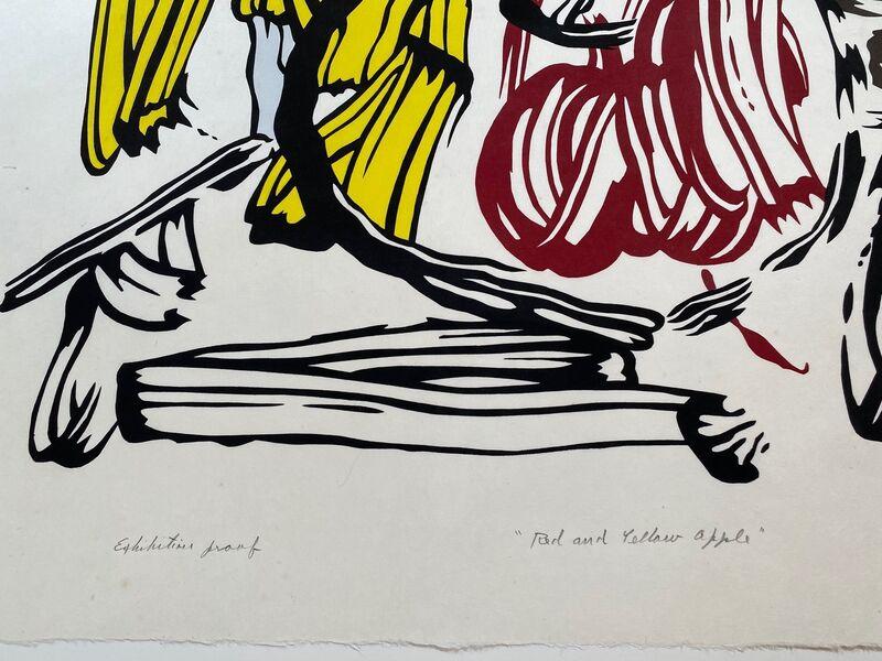 Roy Lichtenstein, 'Red & Yellow Apple unique exhibition proof', 1982, Print, Woodcut on handmade Iwano Kizuki Hosho paper, Fine Art Mia