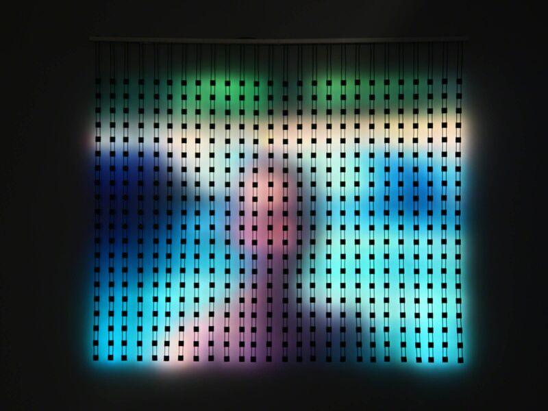 Jim Campbell, 'Home Movies Pause (David)', 2014, Sculpture, Custom electronics, 520 LEDs, Hosfelt Gallery