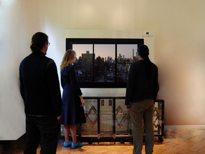 Anotherview, 'Anotherview N.2 Upper East Side View, 6th January 2016', 2016, Mixed Media, Metal, 4k Screen, Electronics, Anotherview