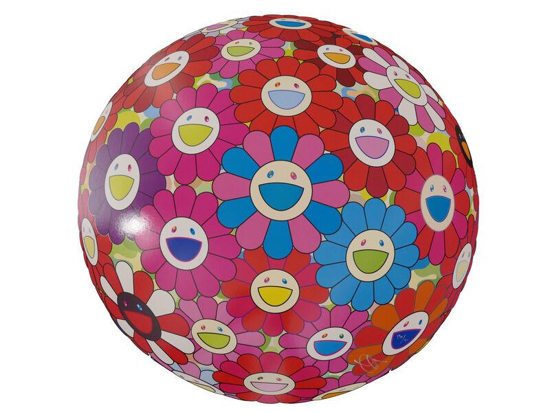 Takashi Murakami, ' Flowerball (3D) - Blue, Red', 2013, Print, Lithograph, @Whatever Artspace