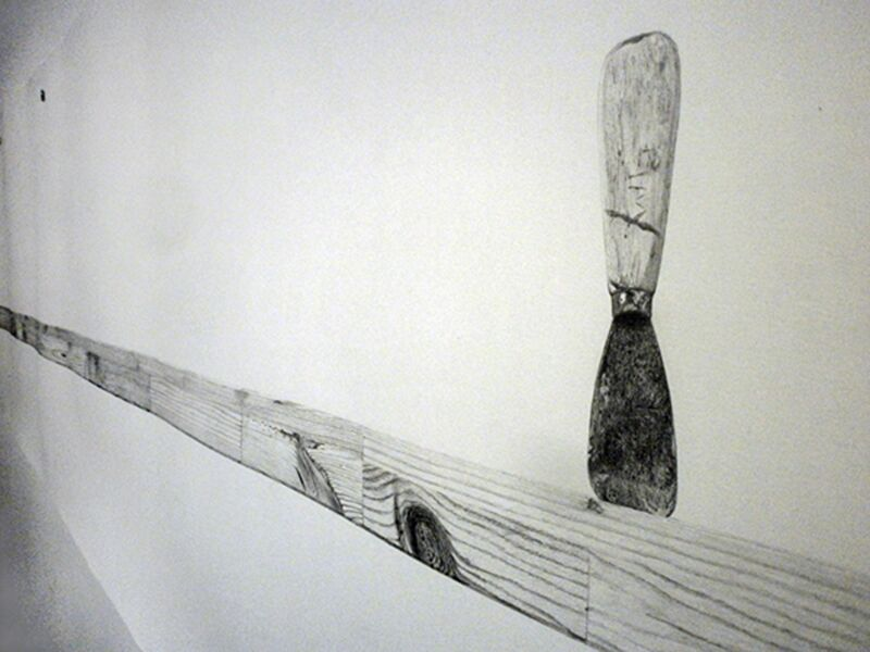 Torsten Richter, 'Untitled drawing (Scrap Lumber) (detail)', 2011, Drawing, Collage or other Work on Paper, Graphite pencil on paper, Robert Kananaj Gallery