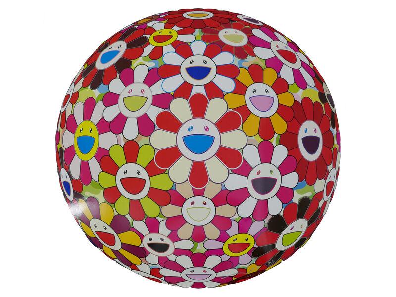 Takashi Murakami, 'Flowerball (3D) - Goldfish Colours', 2008, Print, Lithograph, @Whatever Artspace