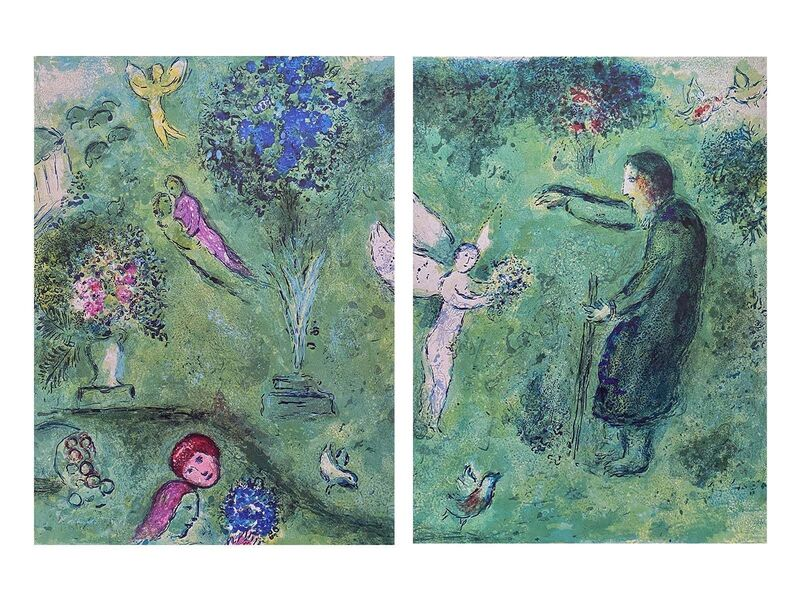 """Marc Chagall, '""""Philetas Orchard (Le Verger de Philetas),"""" from Daphnis et Chloé (Cramer 46; Mourlot 326)', 1977, Print, Offset lithograph on wove paper, Art Commerce"""