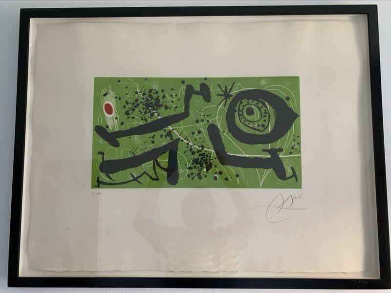 Joan Miró, 'Picasso i Els Reventos (D. 588)', 1973, Print, Etching with aquatint on Guarro paper, Sylvan Cole Gallery