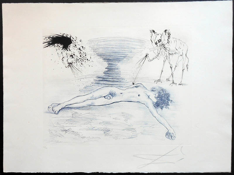 Salvador Dalí, 'Hypnos', 1965, Print, Drypoint and aquatint etching on Japon paper, Puccio Fine Art