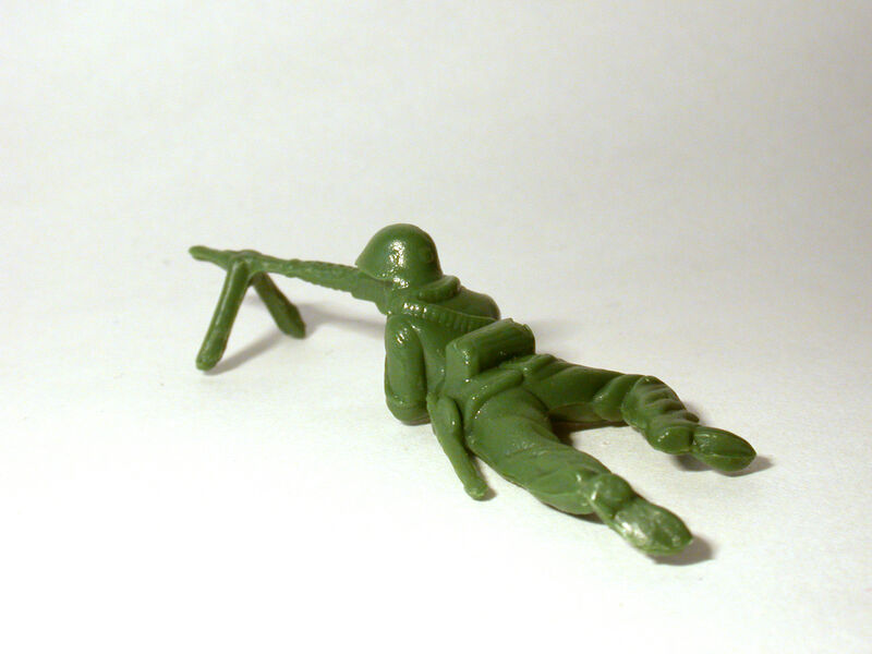 Yoram Wolberger, 'Toy Soldier #5 (Prone Position)', ca. 2010, Sculpture, Reinforced cast fiberglass composite and pigmented resin, Mark Moore Fine Art