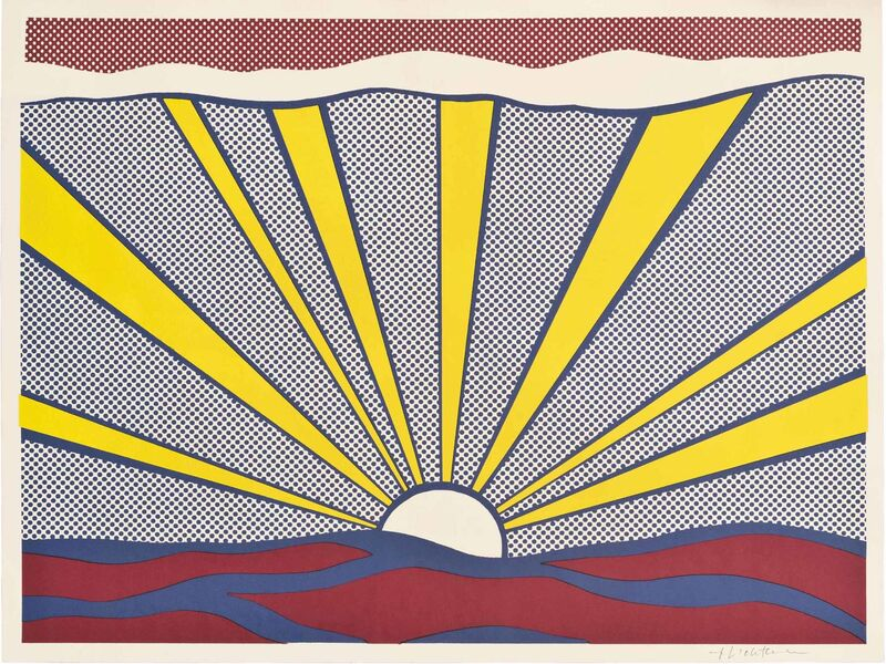 Roy Lichtenstein, 'Sunrise (Corlett II.7)', 1965, Print, Offset lithograph in colours, on wove paper, Gallery Red