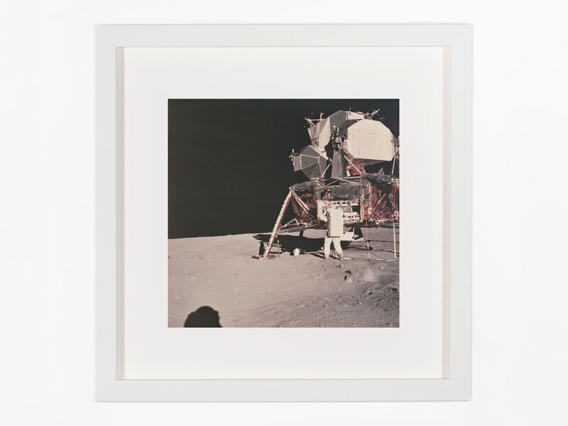 Neil Armstrong, 'Aldrin removing science packages from the modular equipment stowage assembly', 1969, Photography, Original chromogenic print on Kodak paper, Patrick Parrish Gallery