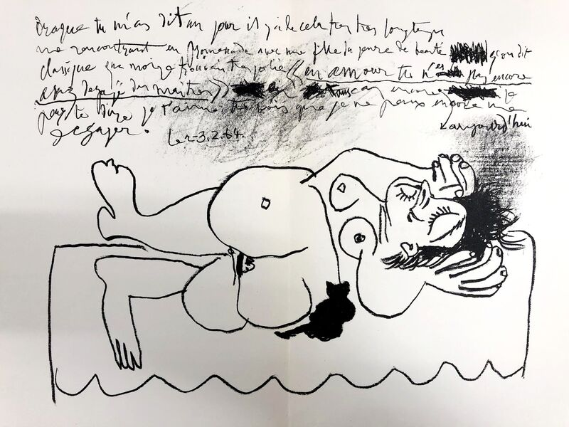 Pablo Picasso, 'Hommage à Georges Braque', 1964, Print, Original lithograph on wove paper, Samhart Gallery