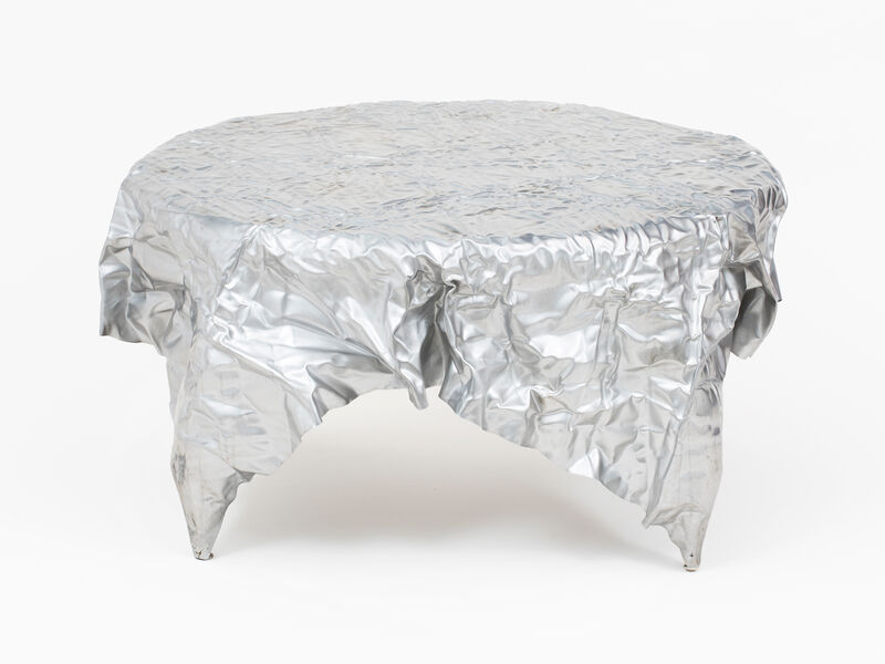 Christopher Prinz, 'Wrinkled Outdoor Coffee Table', 2019, Design/Decorative Art, Stainless Steel, Patrick Parrish Gallery
