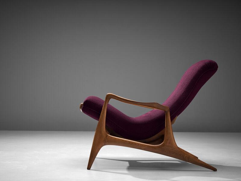 Vladimir Kagan, 'Vladimir Kagan for Dreyfuss Reclining 'Contour' Lounge Chair', 1950s, Design/Decorative Art, Teak and fabric, MORENTZ