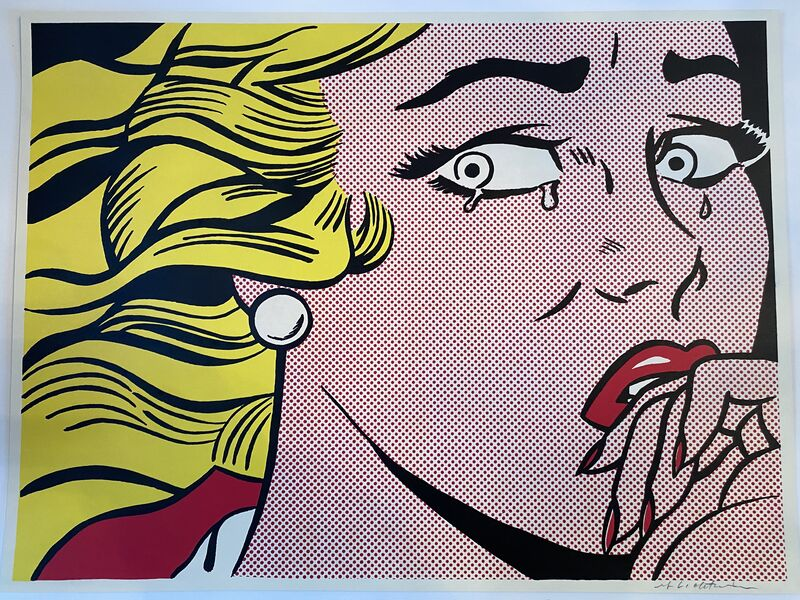 Roy Lichtenstein, 'Crying Girl', 1963, Print, Offset lithograph on lightweight, off-white wove paper, Fine Art Mia