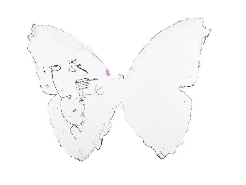 Damien Hirst, 'Butterfly Spin Painting', 2009, Drawing, Collage or other Work on Paper, Acrylic on paper, Rago/Wright