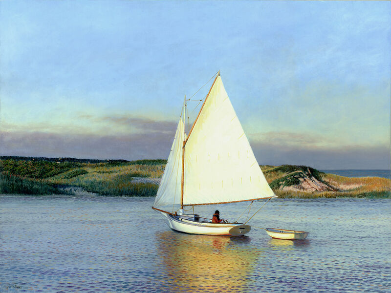 Timothy Barr, 'Evening Sail', 2021, Painting, Oil on panel, Somerville Manning Gallery