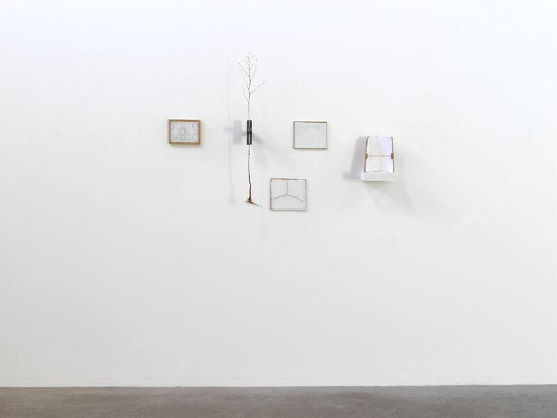 Paul Wallach, 'Yielding Place', 2021, Sculpture, Wood, lead, twig, paster, canvas, paper, string, paint, pencil, Jeanne Bucher Jaeger