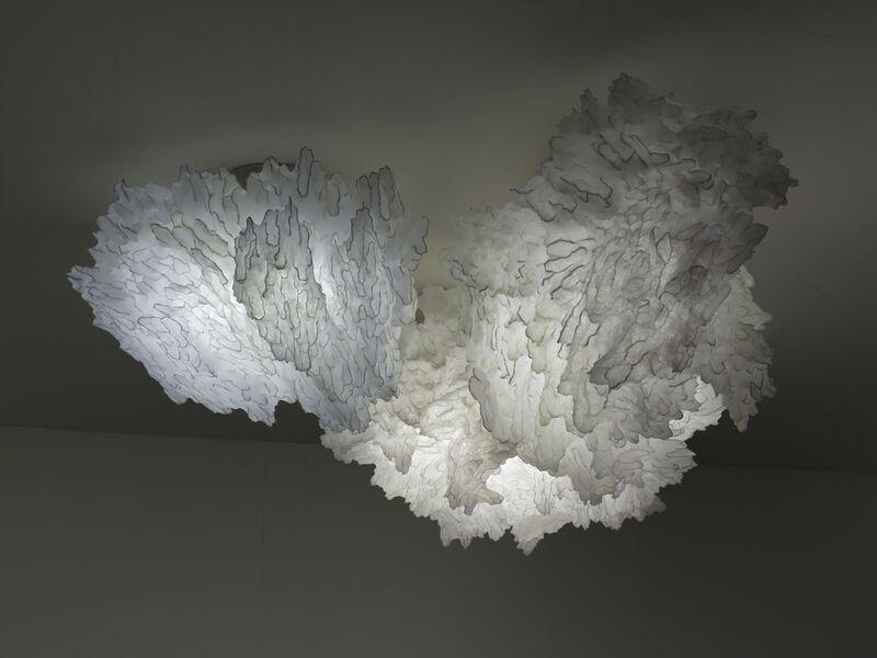 Ayala Serfaty, 'Umnaya: Soma light sculpture composed of three clouds', 2015, Design/Decorative Art, Polymer membrane over a glass rod structure, Maison Gerard