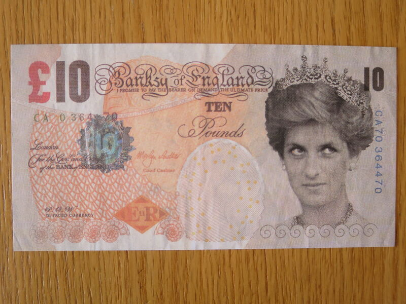 Banksy, 'GENUINE Di-Faced Tenner with COA hand-signed', 2004, Drawing, Collage or other Work on Paper, Bank note, AYNAC Gallery