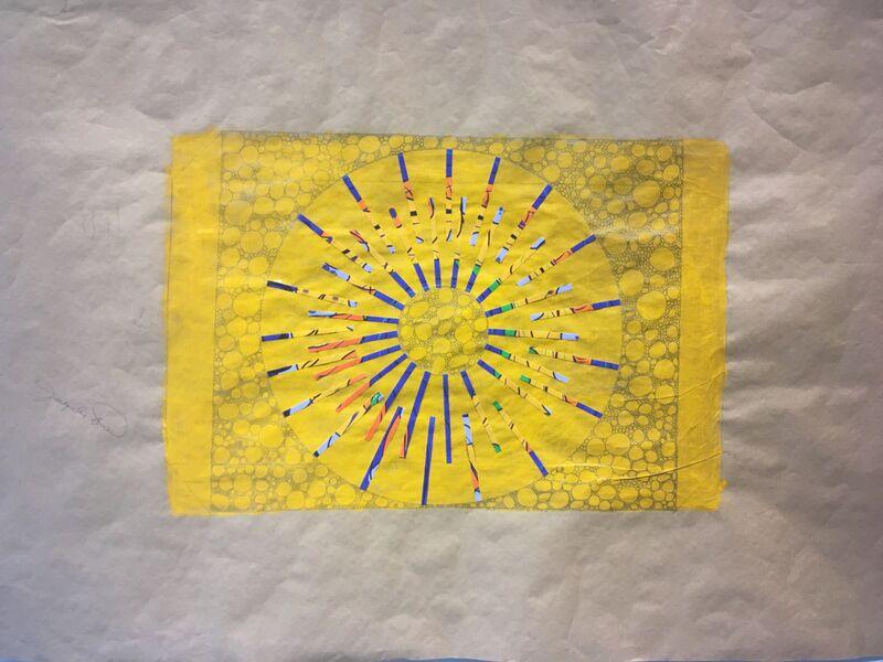 Cassandra Jennings Hall, 'Fall Sunset', 2017, Painting, Mixed Media Collage, Carter Burden Gallery