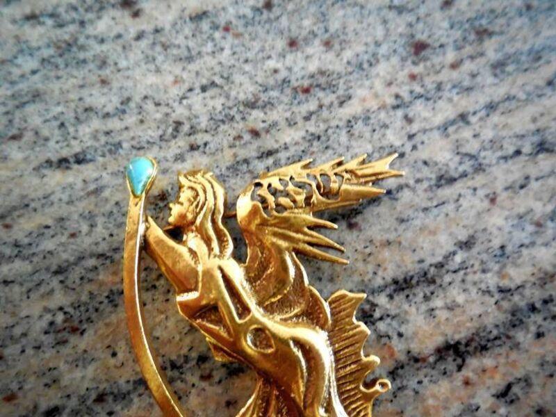 Salvador Dalí, 'wearable art sculpture pin winged angel', 1966, Sculpture, Lions Gallery