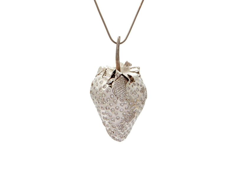 Marc Quinn, 'Frozen Strawberry Pendant ', 2007, Jewelry, 18k white gold with diamonds, Louisa Guinness Gallery