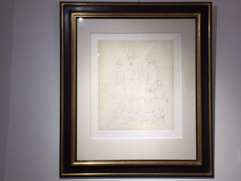 Pablo Picasso, 'La Famille Des Saltimbanques', 1950, Print, Etching on Chine Colle paper, Reuben Colley Fine Art