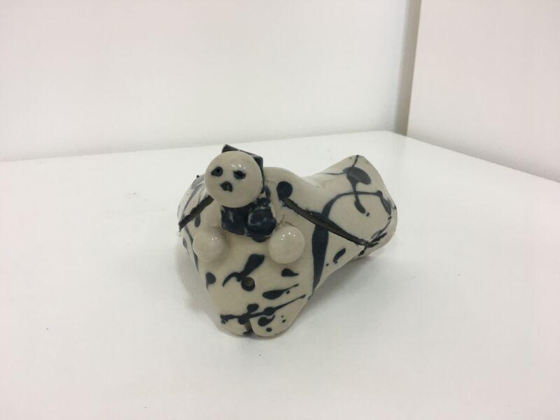 Lee Mullican, 'Untitled Black on White', c. 1980s, Sculpture, Ceramic, 203 Fine Art