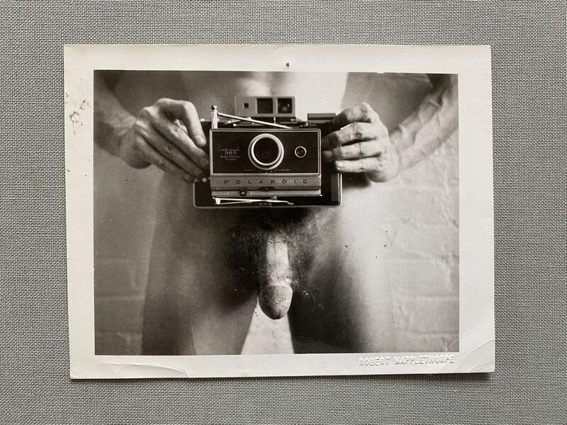 "Robert Mapplethorpe, '""Self Portrait""', 1973, Photography, Unique polaroid., MultiplesInc Projects"